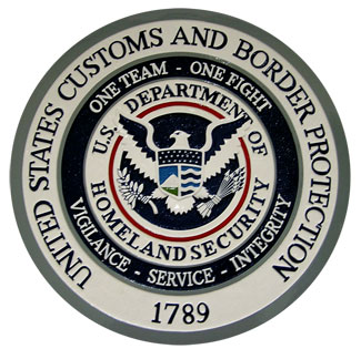 US Customs and Border Patrol Patch